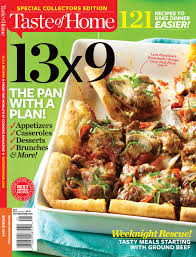 shop taste of home taste of home magazine 13x9 the pan with a