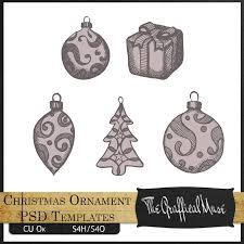 free christmas ornament photoshop psd templates the graffical muse