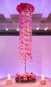 preston bailey event ideas tall pink orchid centerpiece pink