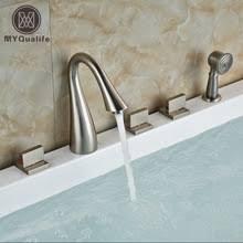 3 Handle Bathtub Faucet Popular 3 Handle Tub Shower Faucet Brushed Nickel Buy Cheap 3