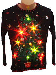 Ugly Christmas Sweater With Lights Womens Light Up Ugly Christmas Sweater Designers Original