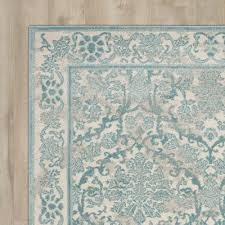 found it at joss u0026 main hayley ivory light blue area rug