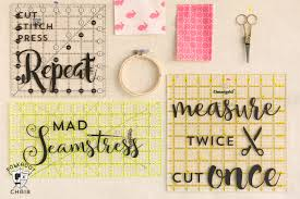 diy sewing room decor ideas and free cricut cut files the