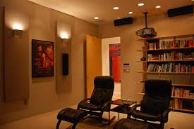 in home theater interior gray wall in home theatre designs mixed with two yellow