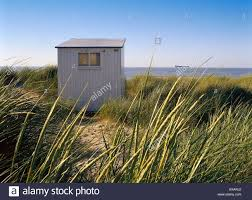 small beach house u0026 marram grass knokke north sea belgium stock
