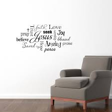 christian wall decal jesus subway wall art sticker praise details this christian wall decal