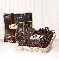 chocolate gift basket chocolate gift tray and basket asher s chocolates