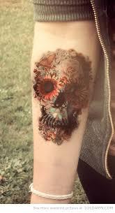 progress lighting flower tattoos flower skull and