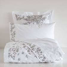 chambre zara home draps et housse percale brodé linen bedroom bed linen and linens