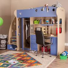 NIKA Loft Bed Maple Blue - Jysk bunk bed