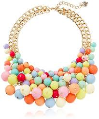colored bead necklace images Betsey johnson runway multi colored shaky bead necklace where to jpg