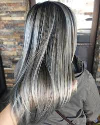 silver hair with lowlights silver and brown hair brown hairs