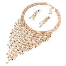 long crystal pendant necklace images Solememo luxury gold wedding jewelry sets women fashion jewelry jpg