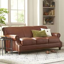 leather sofa landry leather sofa reviews birch