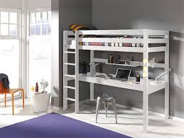 lit bureau mezzanine lit surélevé mezzanine adolescent en pin massif maxens coloris