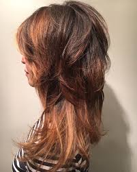 razored long shag haircut and bayalage ombré highlights asian hair