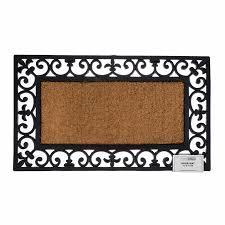 Coir And Rubber Doormat Coir Rubber Door Mat Indoor Outdoor Use Large Wrought Iron Heavy
