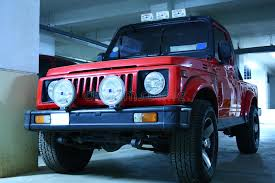 gypsy jeep red color jeep with fog lights stock photo image of headl
