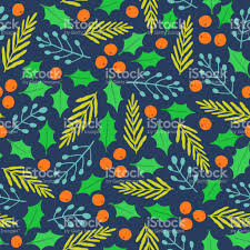 christmas plants vector seamless pattern stock vector art