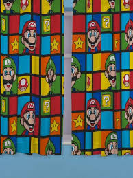 chambre mario nintendo 54 inch retro curtains multi colour amazon co uk kitchen