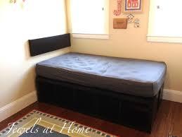 ikea bedframe hack ikea expedit hack compact storage bed jewels at home