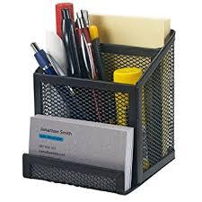 Wire Mesh Desk Organizer Bonsaii Home Office Metal Mesh Desktop Organizer 3
