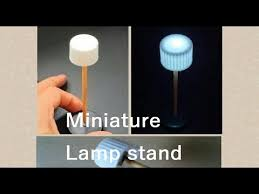 How To Make Led Lights Shiny Led How To Make Miniature Lamp Stand Doll House Youtube