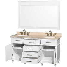 avola windsor 60 inch white finish double sink bathroom vanity
