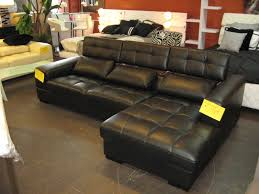 Black Leather Sofa With Chaise Living Room Design Awesome Black Leather Sectional For