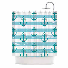 Nautical Anchor Shower Curtain Shop Nautical Anchor Shower Curtains On Wanelo