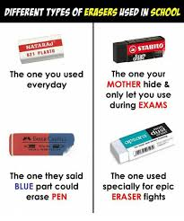 Different Types Of Memes - different types of erasers hsed in school natara 621 plasto stabilo