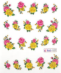 11 designs flower butterfly nail decals wrap stickers water