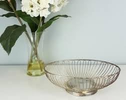 Shabby Chic Wire Baskets by Silver Wire Basket Etsy