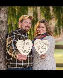 engagement photo props wedding photo props engagement photo props set of 2 wood hearts