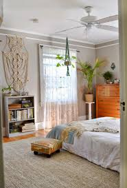 macrame planter beautiful light and airy master bedroom mid