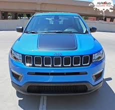 jeep compass 2018 bearing jeep compass vinyl graphics decal stripe hood blackout