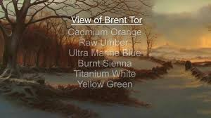 list of colours winter landscapes by alan kingwell with a list of colours that it