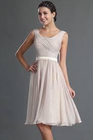 robe d invitã de mariage robe courte genoux couleur tourterelle pour cocktail de mariage