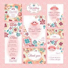 Wedding Invitation Card Free Download Ornate Floral Wedding Invitation Cards Vector Image 37761 U2013 Rfclipart