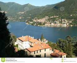 Lake Como Italy Map Lake Como Italy Village On Lake Royalty Free Stock Photo Image