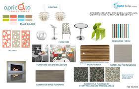 Interior Design Material Board by Apricato Yogurt Shop Interior Design And Branding Commerical
