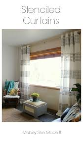 best 25 stenciled curtains ideas on pinterest painting curtains