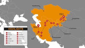Central Asia Map by Central Asia Budget Tour Madventure Budget Overland Tours