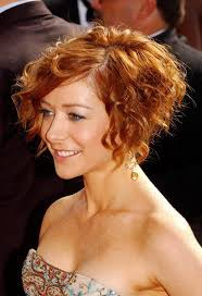 copper and brown sort hair styles short curly bob hairstyle copper colored short cut from alyson