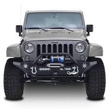 jeep yj rock crawler 07 16 jeep wrangler jk heavy duty rock crawler front bumper w led