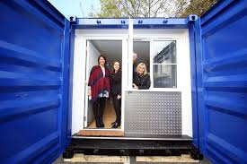 shipping container turned into a sanctuary for homeless people