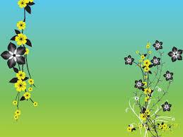green flower pattern powerpoint templates flowers green nature
