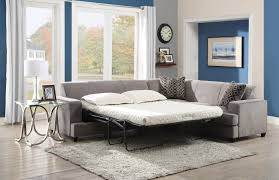 gray fabric cover modern sectional sleeper sofa queen with fold