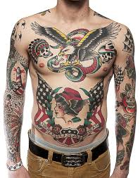 full men u0027s body american style tattoo tattoomagz
