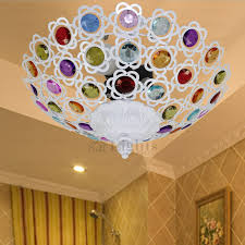 Flush Mounted Ceiling Lights by Semi Flush Mount Ceiling Lights Beautiful Beaded White Wrought Iron